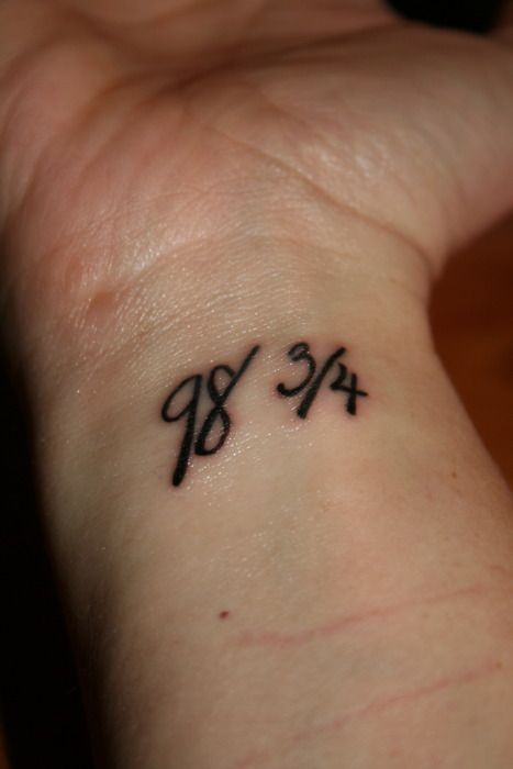 Girl Show Nice March Eqaution Numbers Tattoo Design On Wrist
