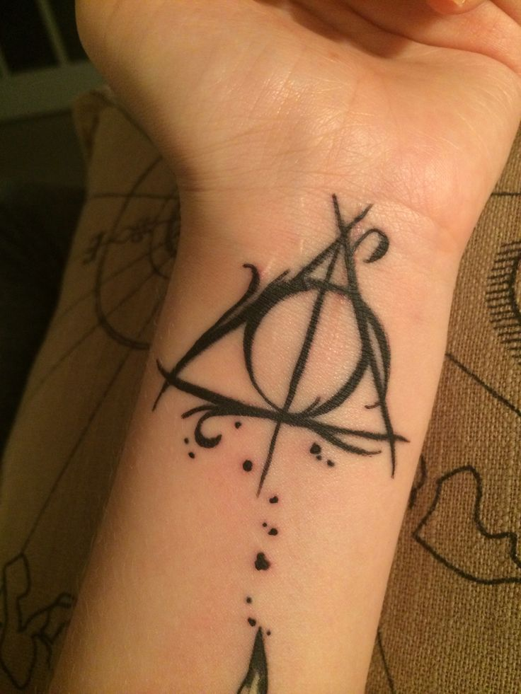 Girl Wrist Nice Hallows Tattoo