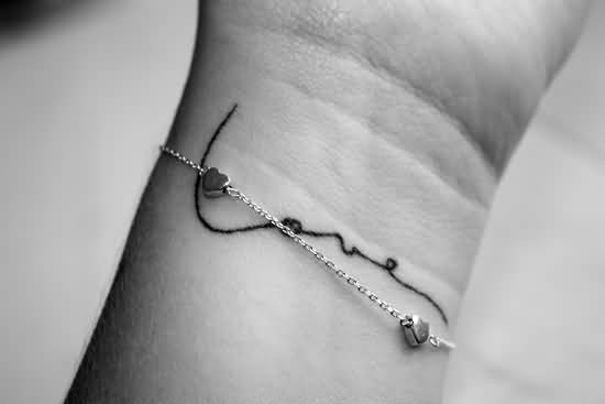 Girl Wrist Nice Love Letters Tattoo