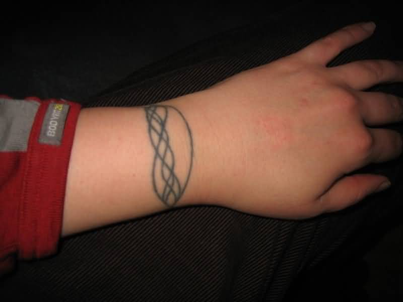 Girl Wrist Simple Physics Tattoo