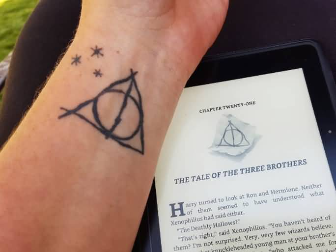 Girl Wrist Simple Stars Hallows Tattoo
