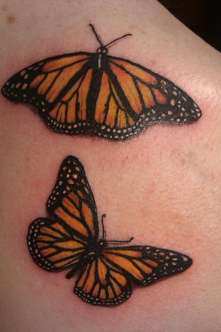 Girlfriend Boyfriend Hot Monarch Butterfly Tattoo