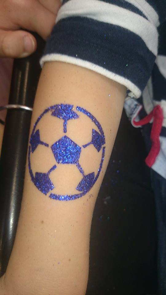 Glitter Ink Nice Football Tattoo