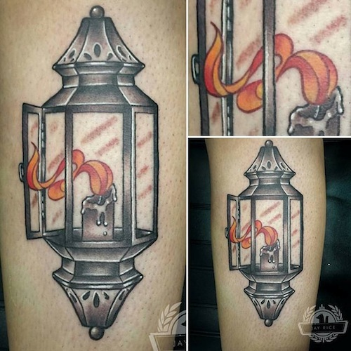 Great And Nice Lantern Tattoo Design Idea