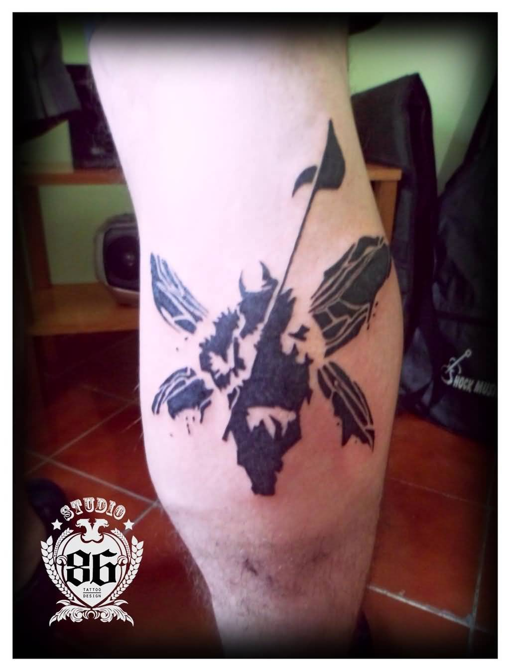 Great And Simple Linkin Park Soldier Tattoo Design