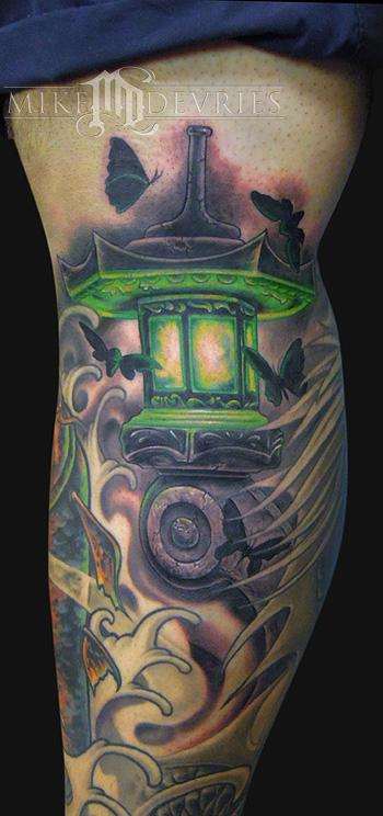 Great David Star Lantern Tattoo