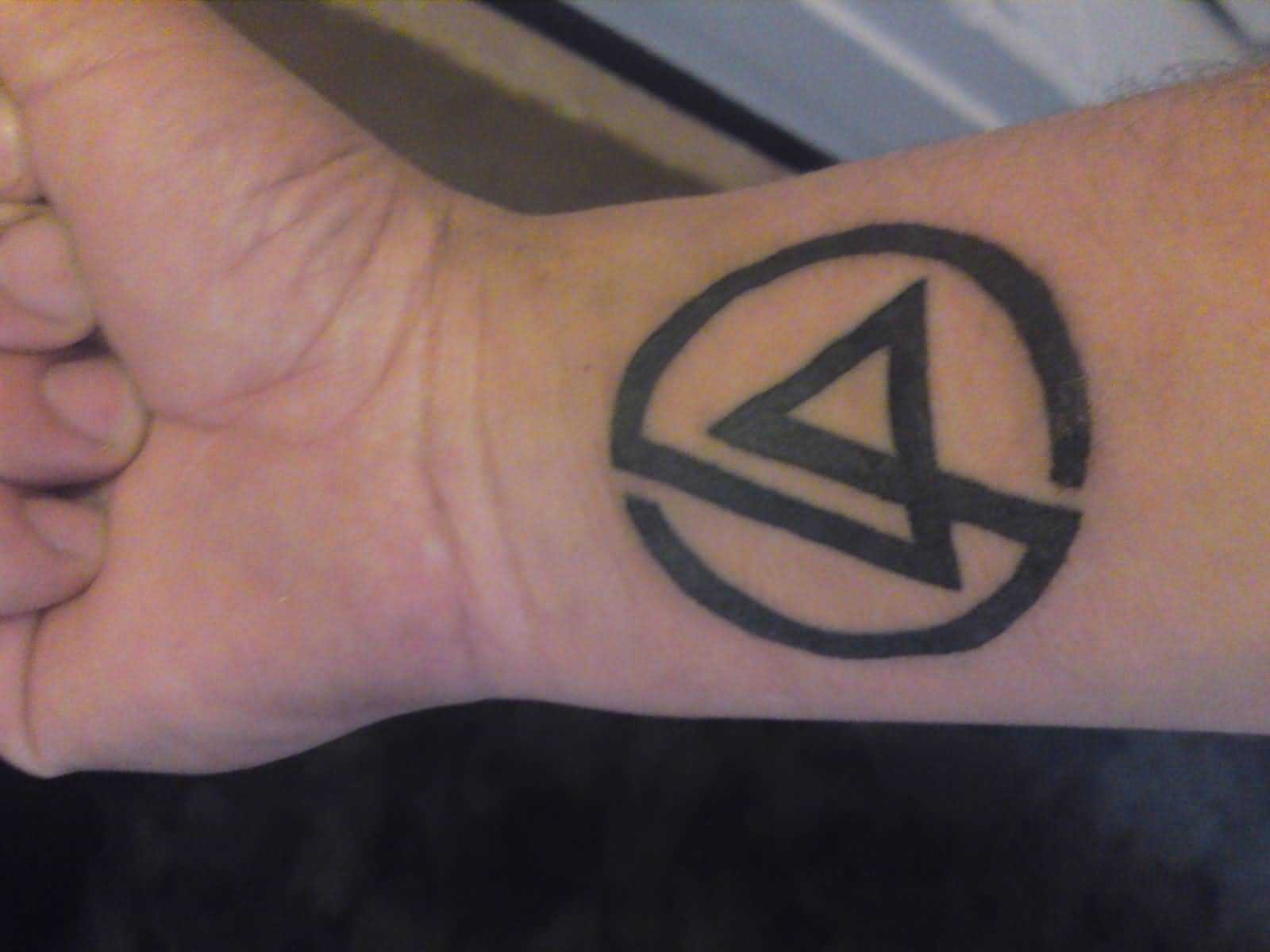 Grey Ink Nice Linkin Park Symbol Tattoo Design