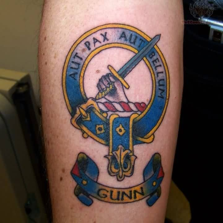 Gunn Banner Nice Scottish Logo Tattoo