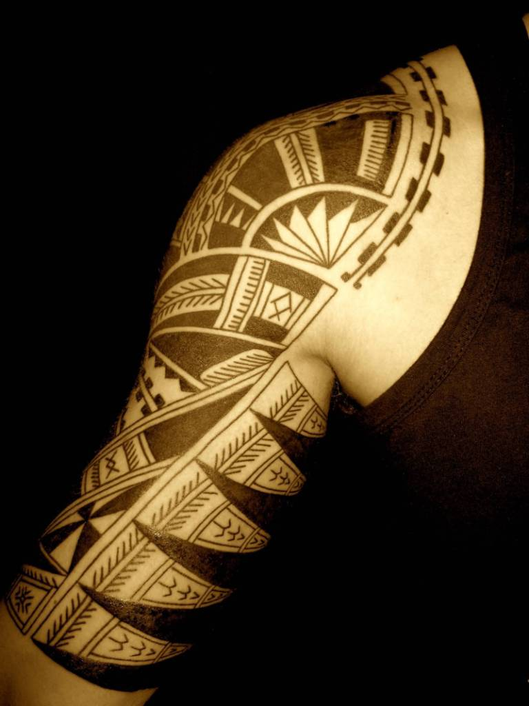 Half Sleeve Samoan Tattoo