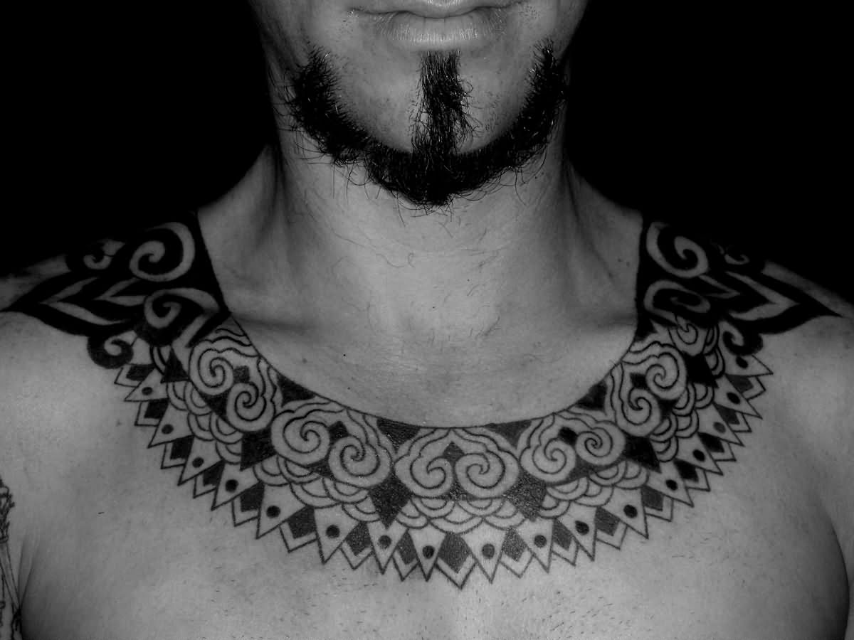 Hawaiian Style Nice Necklace Tattoo