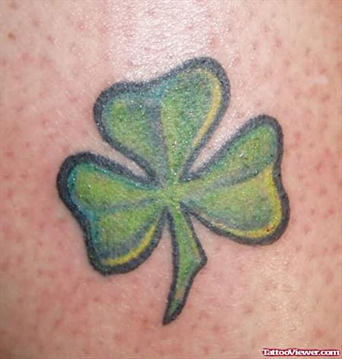 Heart Clover Simple Shamrock Tattoo Design Idea