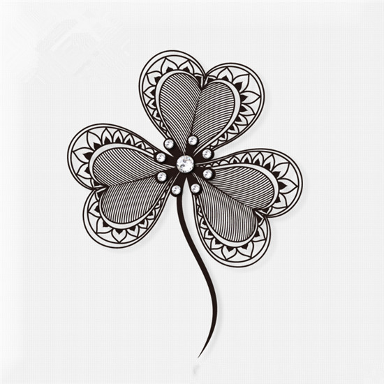 Heart Shamrock Tattoo Design