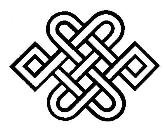 Heart Style Nice One Endless Knot Tattoo Drawing