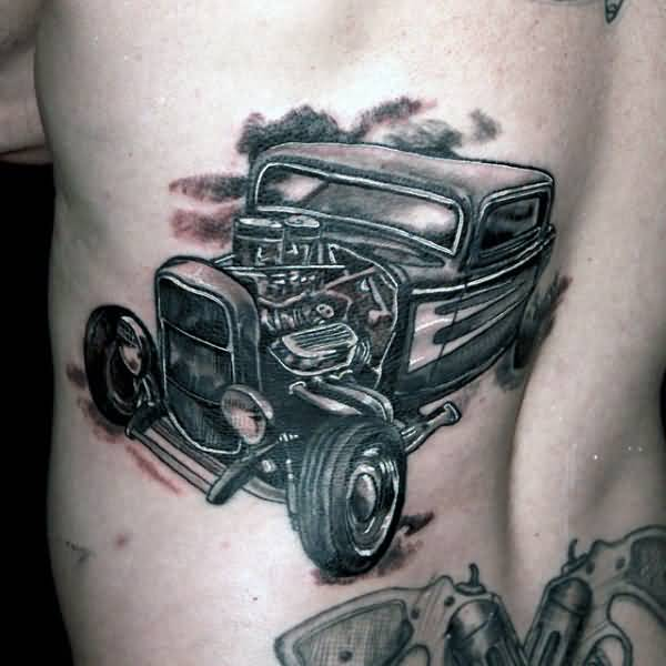 Historical Vintage Old Trend Jeep Car Tattoo