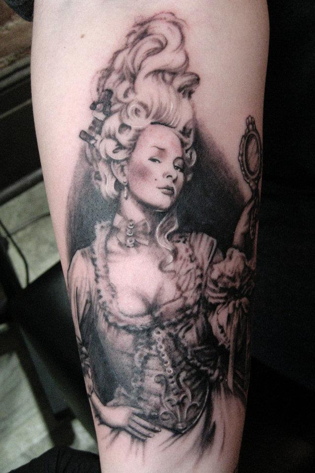 Hot Famous Historical Girl Tattoo