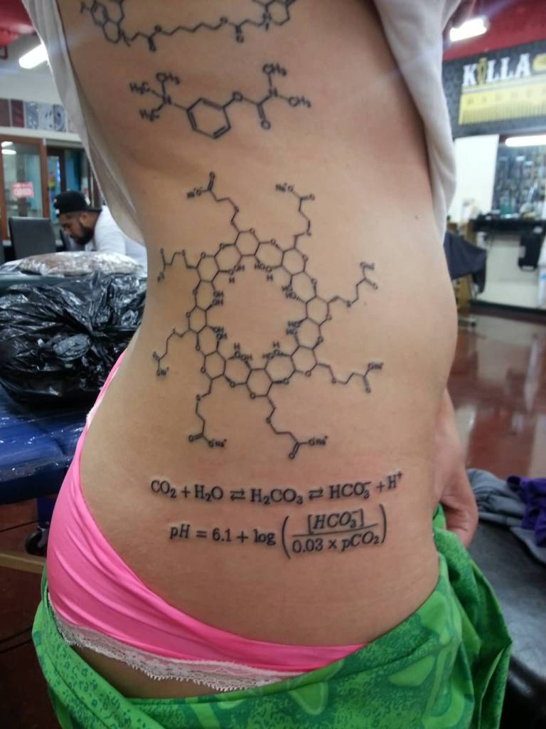 Hot Girl Show Nice Science Formula Molecules With Formula Tattoo