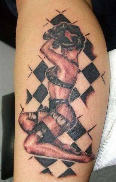 Hot Pin Up Girl Tattoo Design