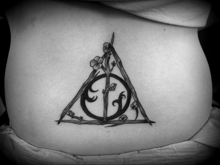 Its Special Lower Back Deathly Hallows Tattoo For Boyfriend