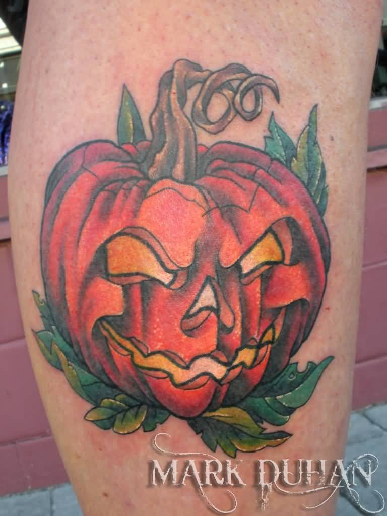 Jack O Lantern Tattoo Design Idea