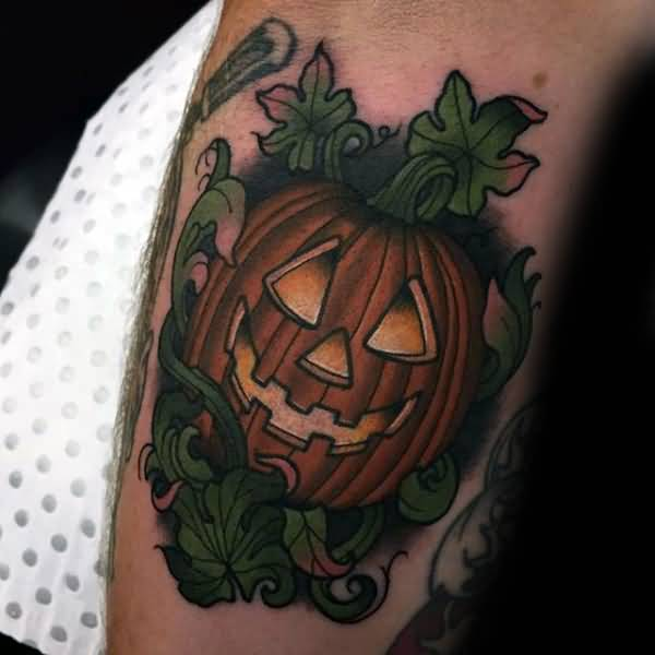 Jack O Lantern Tattoo Design