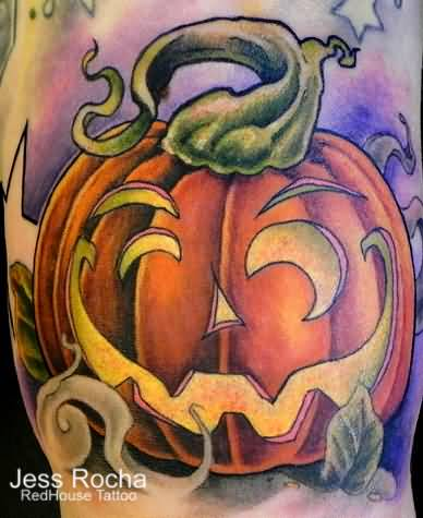 Jack O Nice Lantern Tattoo Design Idea (2)