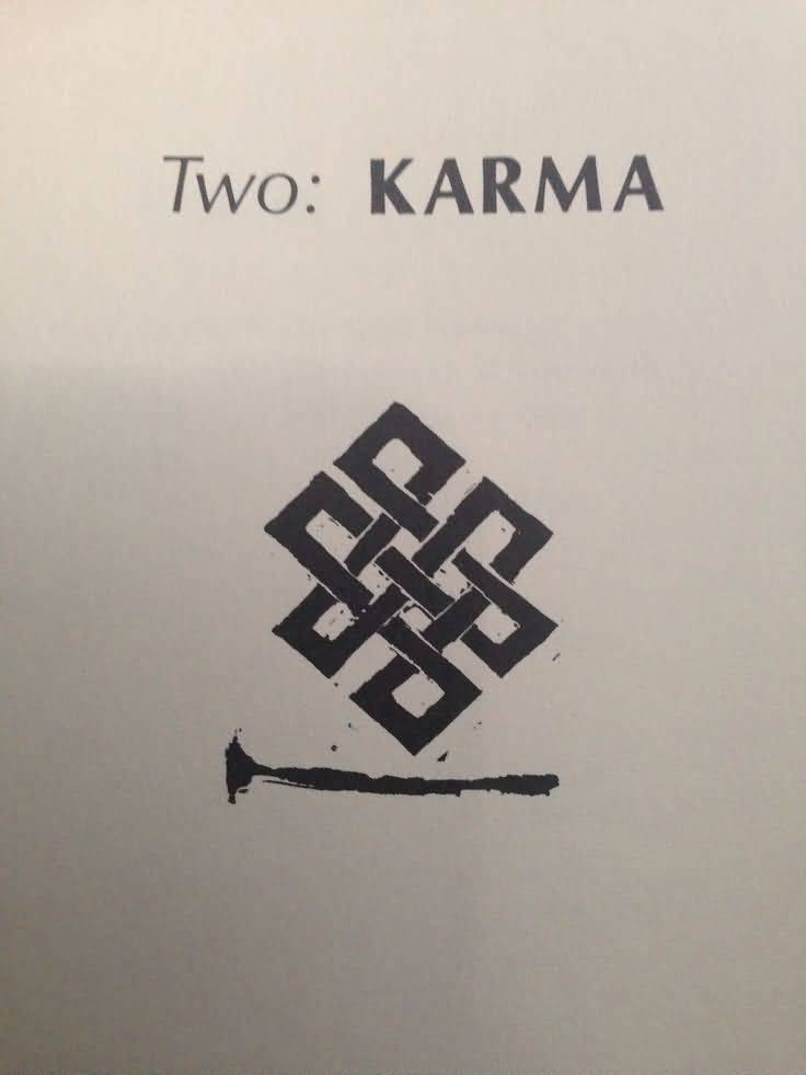 Karma Design A Nice Endless Knot Tattoo Drawing