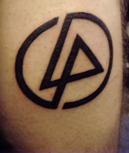 Latest Black Ink Amazing Linkin Park Symbol Tattoo