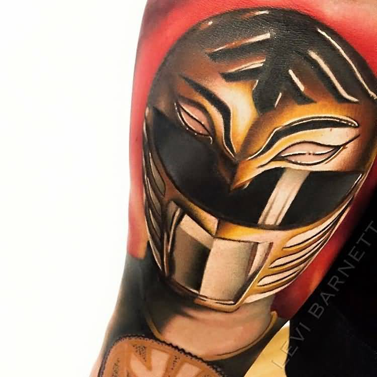 Levi Barnett Design A Orange Classy MAsk Tattoo