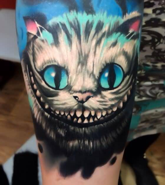 Levi Barnett Design A Spooky Cat Tattoo On Arm