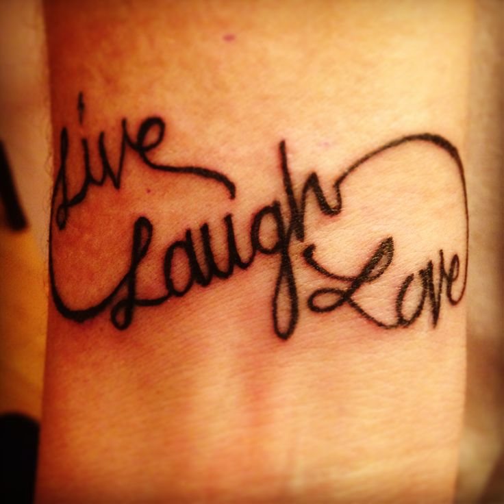 Live Laugh Love Infinity Tattoo On Wrist