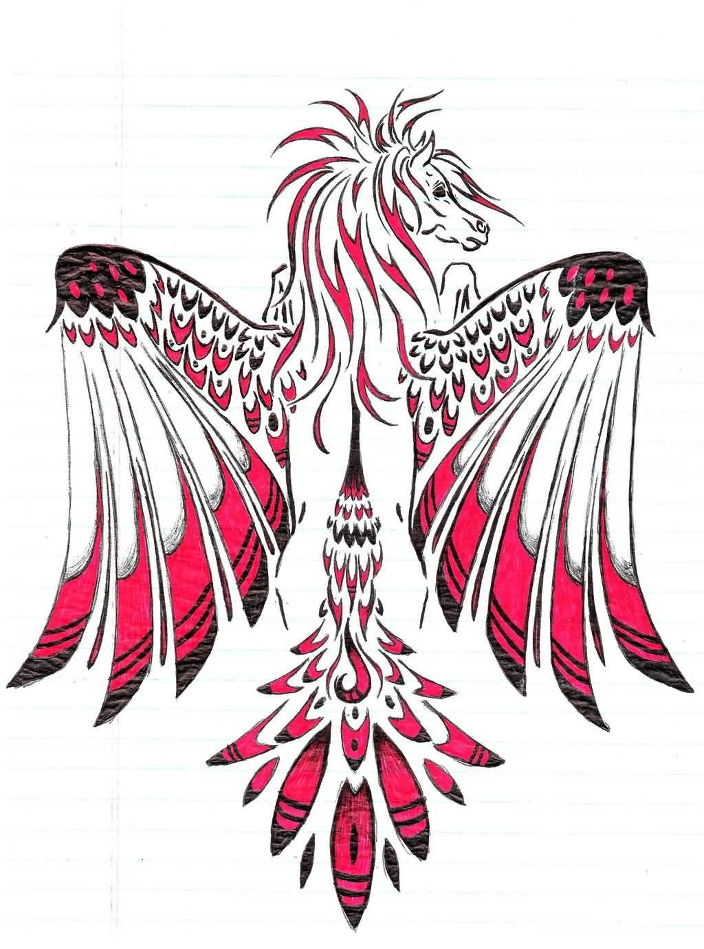 Loopgaroux Design A Awesome And Nice Pegasus Tattoo