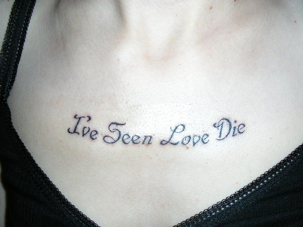 Love Die Short Quote Tattoo
