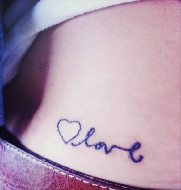 Love Heart Letters Tattoo