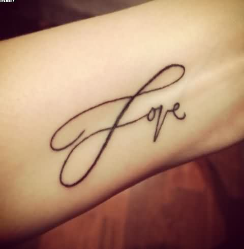 Love Infinity Tattoo Design