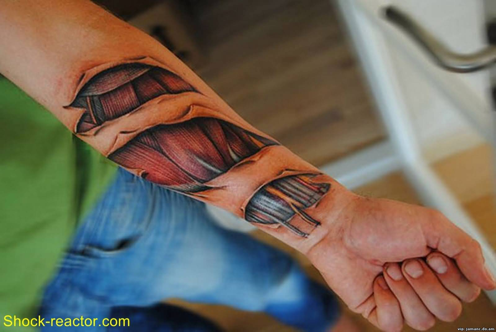 Lower Forearm Sleeve Awesome And Muscles Tattoo