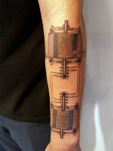 Lower Sleeve Amazing Physics Patented Theory Tattoo
