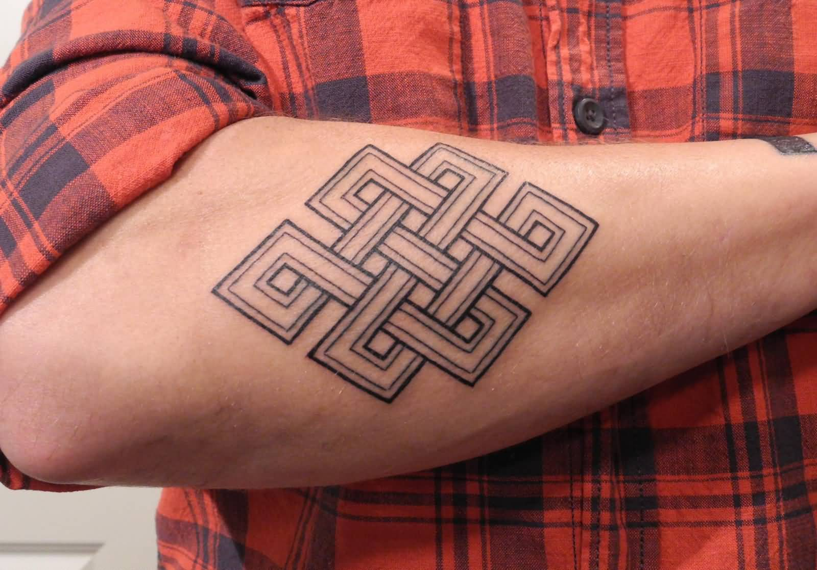 Lower Sleeve Cool Endless Knot Tattoo Design