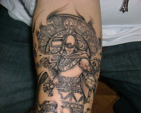 Lower Sleeve Historical Warrior Tattoo