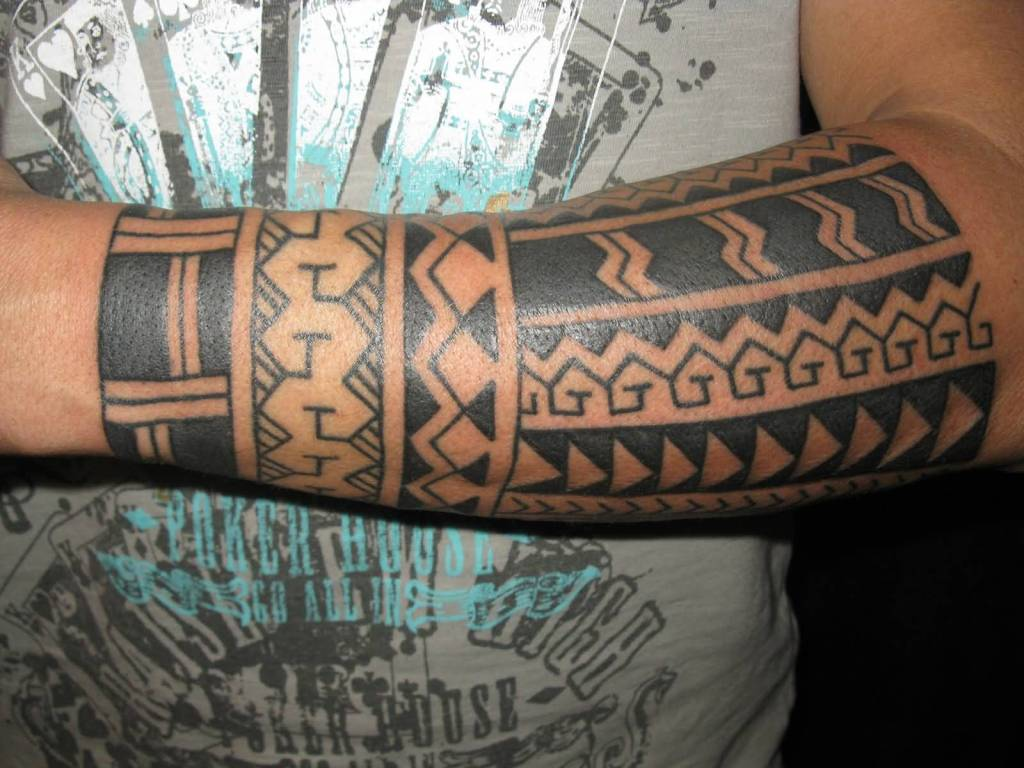 Lower Sleeve Nice And Simple Tribal Filipino Tattoo