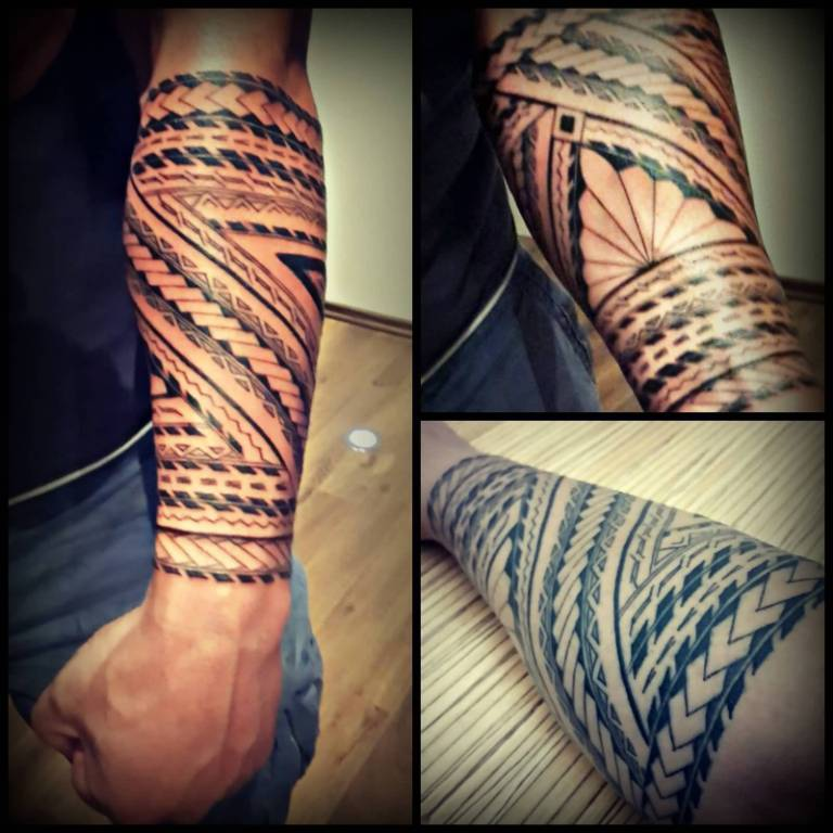 Lower Sleeve Samoan Tattoo