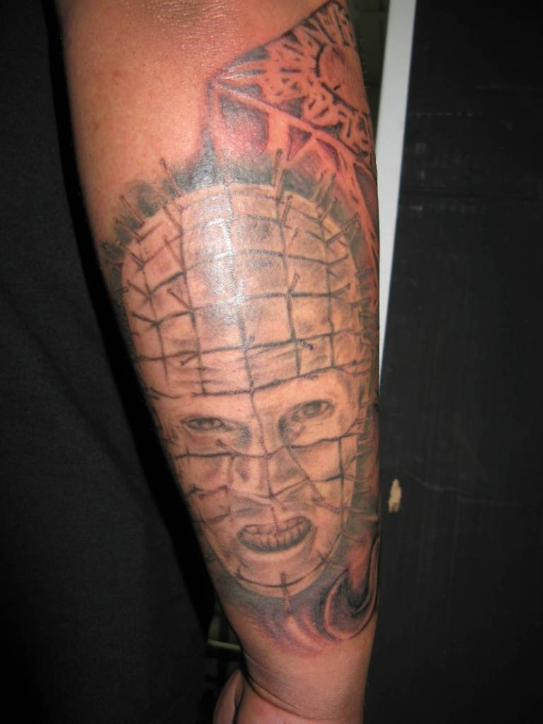 Lower Sleeve Simple Pinhead Tattoo Design Idea