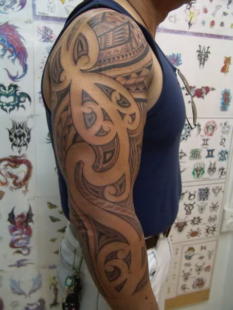 Maori Samoan Tattoo On Sleeve