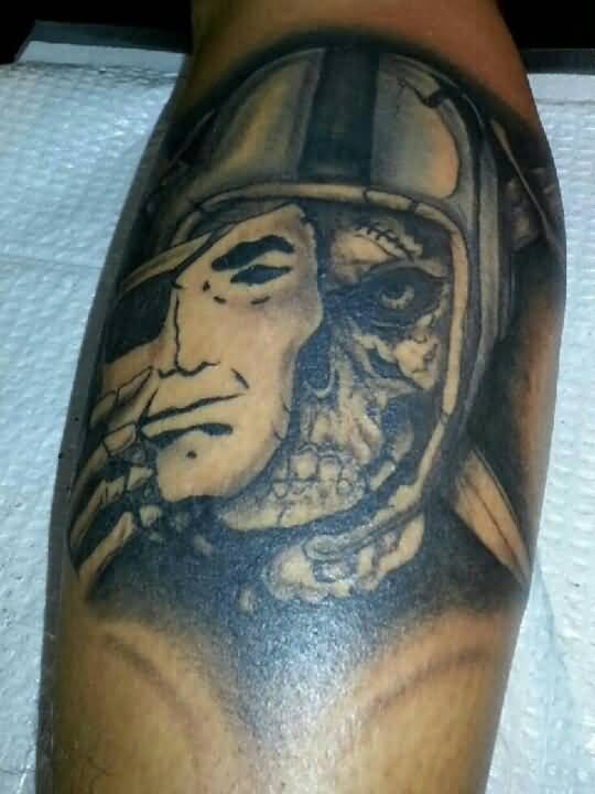 Mask Skull Amazing Oakland Raiders Tattoo