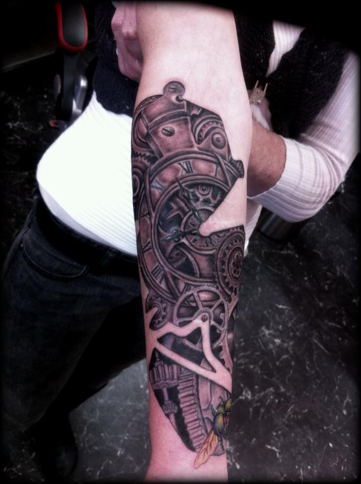 Mechanical Nice Lower Sleeve Punk Tattoo