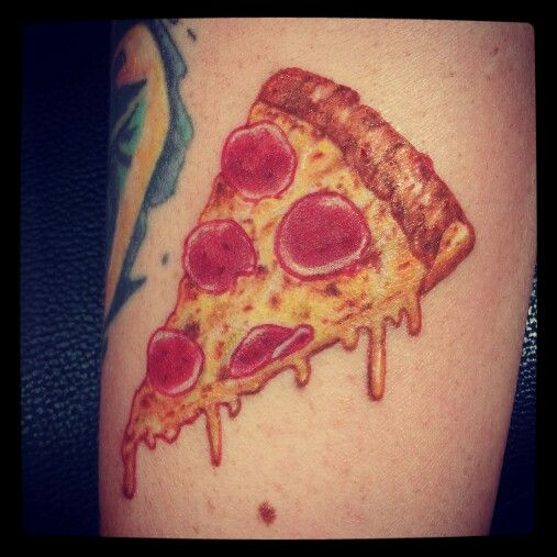 Melting Pizza Tattoo