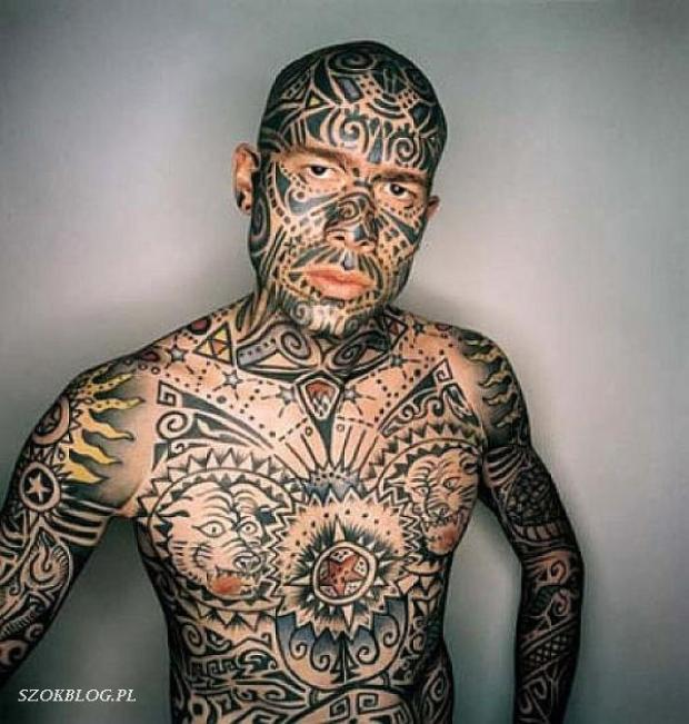 Men Full Body Extreme Tattoo
