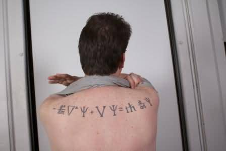 Men Show Her Quantum Physics Tattoo