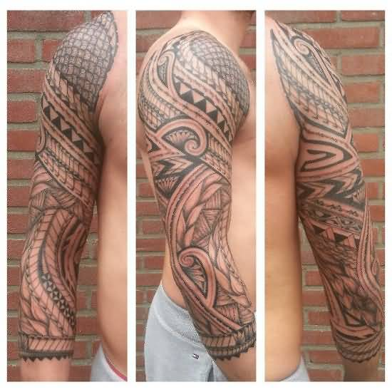 Men Sleeve Amazing Samoan Tattoo