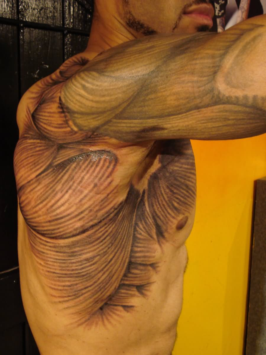 Men With Amazing Muscles Tattoo Design Idea
