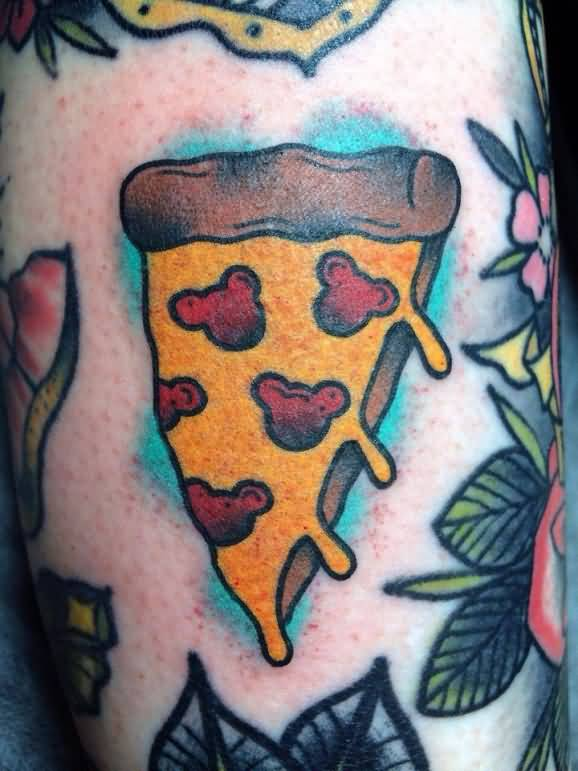 Mickey Face Pizza Tattoo